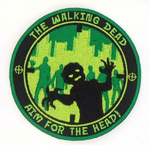The Walking Dead, AIM FOR THE HEAD!, embroidery patch